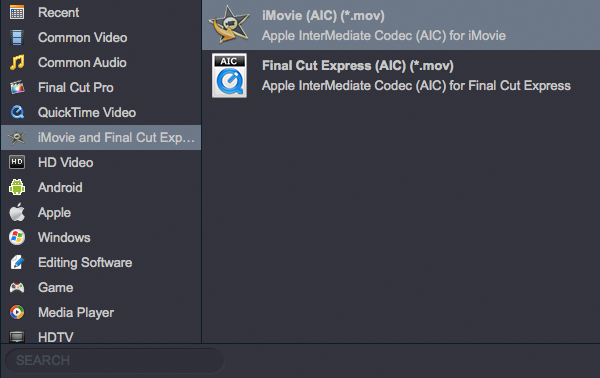 Convert AVCHD to AIC MOV for iMovie