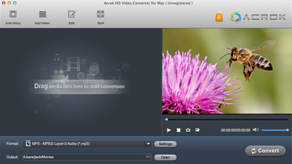 Import AVCHD to iMovie with best AVCHD Converter Mac