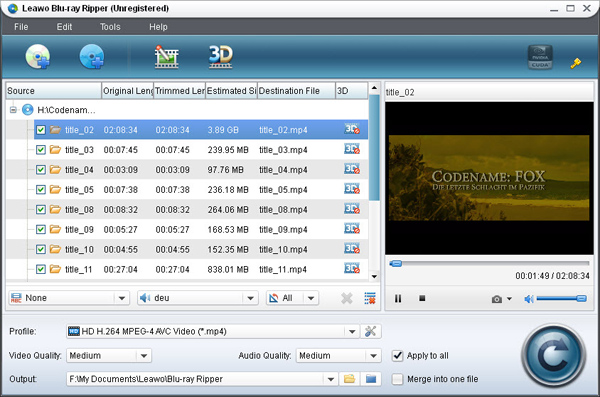 Leawo Blu-ray Ripper-best Blu-ray ripping software